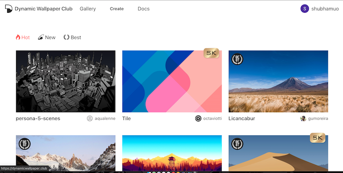 Download new dynamic wallpapers with Dynamic Wallpaper Club