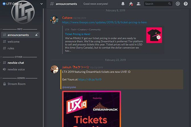 Find the Best Discord Servers - LTT server