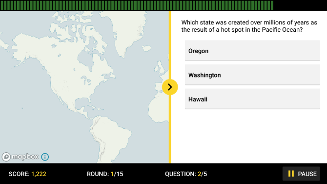 NatGeo's GeoBee Challenge app is a fun geography quiz to test knowledge and learn geographical facts
