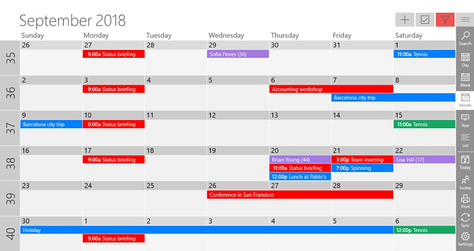 one calendar app windows 10