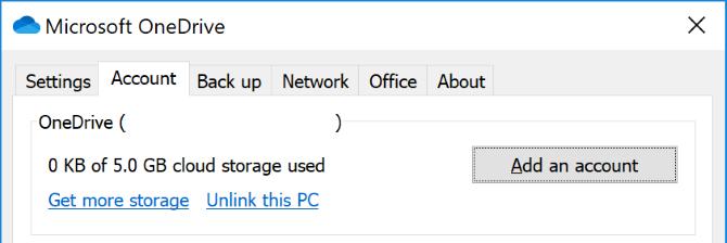 OneDrive capacity