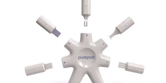 PurePort Is the All-in-One Cleaning Multitool for iPhones and iPads