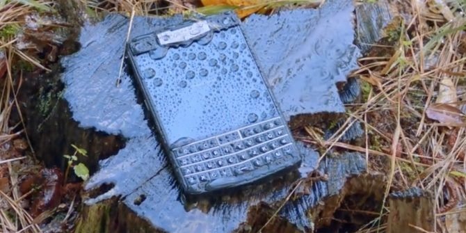 The Rugged Titan Smartphone Has a Physical QWERTY Keyboard