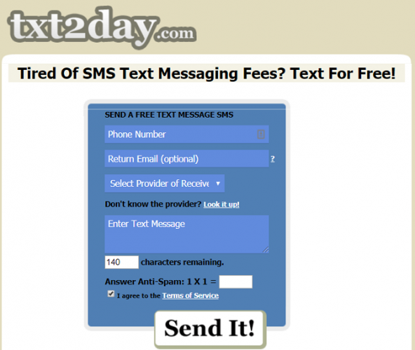 free sms message to mobile phone