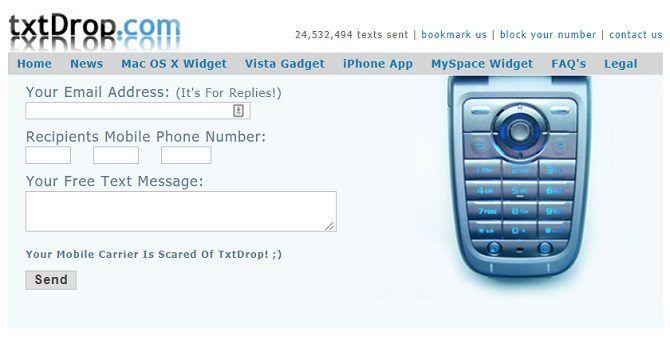 txtdrop free sms