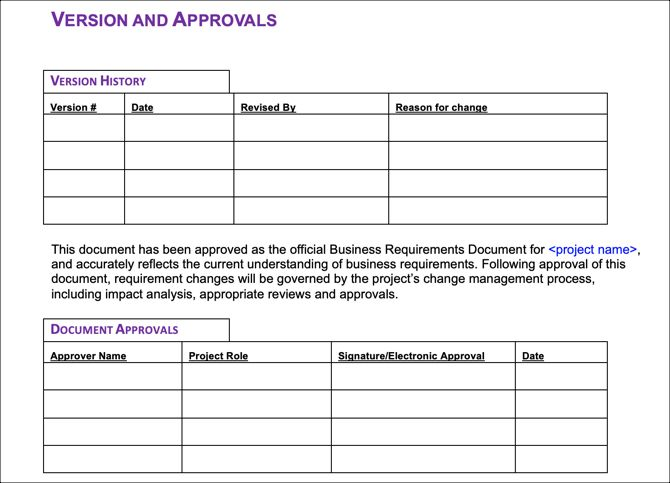 6 free business requirements document templates for