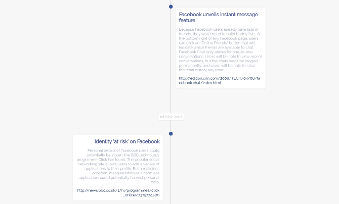 Pretty Zucky is a timeline of Facebook's privacy misdeeds and violations since 2006 when it was formed