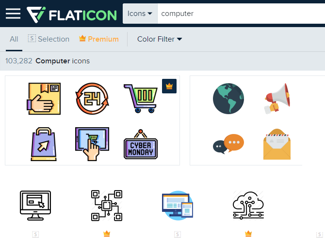 FlatIcon Computer Icons