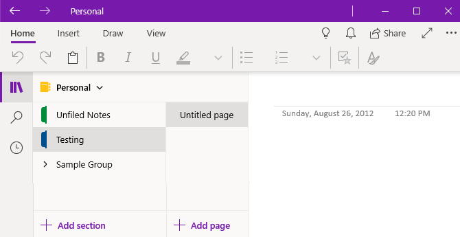 OneNote Store Version