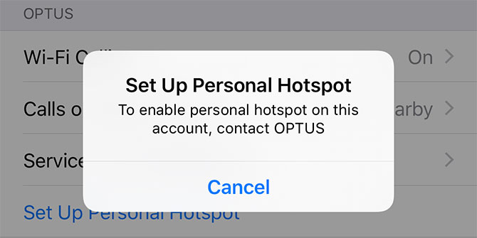to enable personal hotspot on this account contact carrier