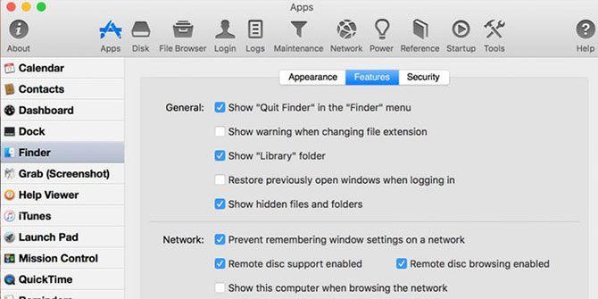 MacPilot settings in action