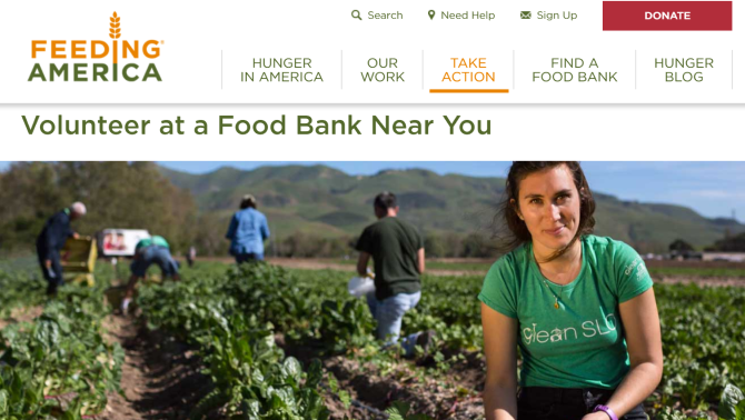 Feeding America Volunteer Website