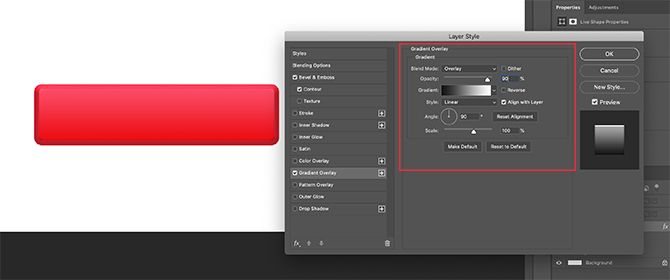 Apply Gradient Overlay to Rectangle in Photoshop