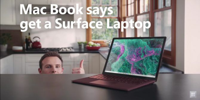 Microsoft Uses Mac Book to Sell the Surface Laptop