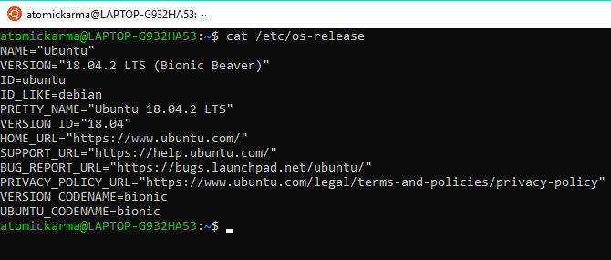 Check your Linux version with osrelease