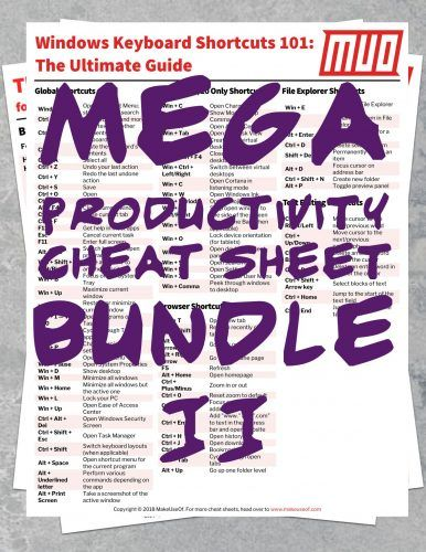 Download Even More Productivity Cheat Sheets for FREE!