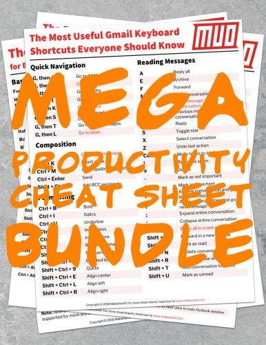 Download This MEGA Productivity Cheat Sheet Bundle for Free!