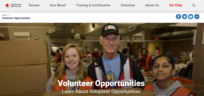 Red Cross Volunteer Work Website