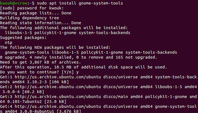 Installing gnome-system-tools on Ubuntu