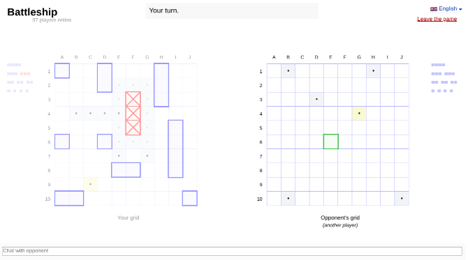 Play Battleship Online in a browser against a friend or a random opponent