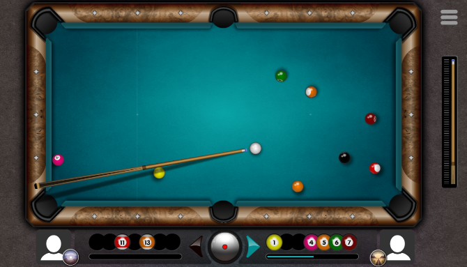 Play a quick game of pool against a friend or random player online in your browser at 8ball.online
