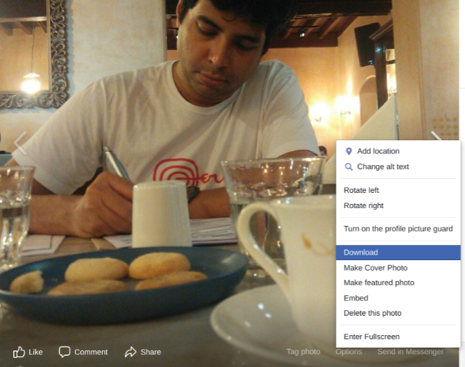 download a full-size image of any picture on Facebook