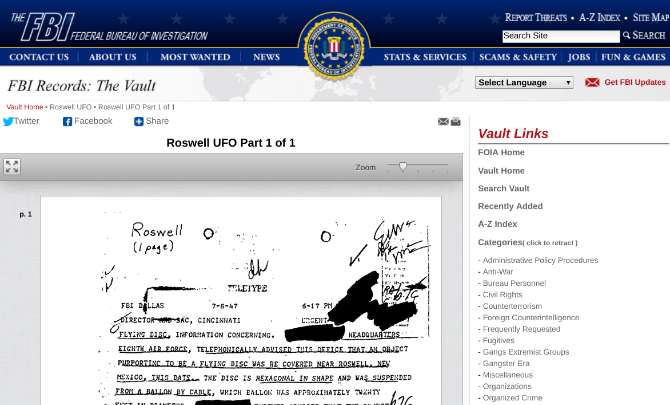 5 Freedom of Information Sites Full of Declassified