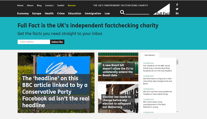 fullfact uk fact checking website