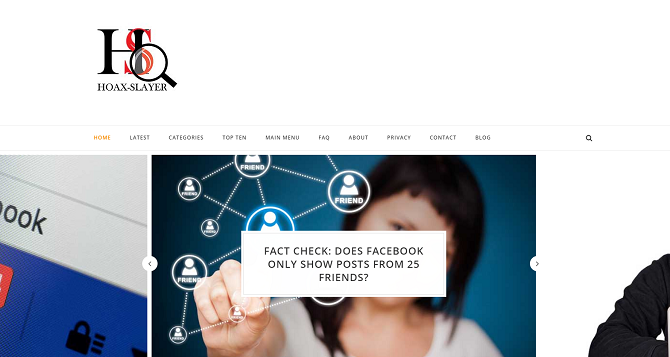 hoaxslayer website for checking truth
