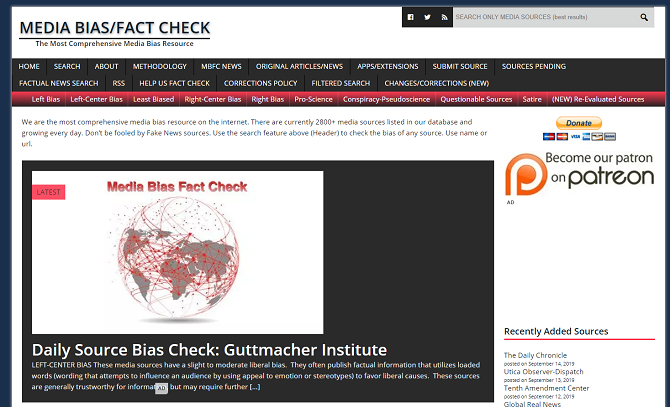 media bias fact check website