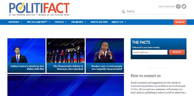 politifact check news website