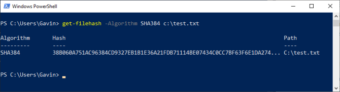 powershell getfile hash check sha387