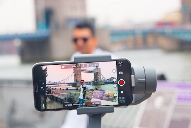 smartphone on gimbal