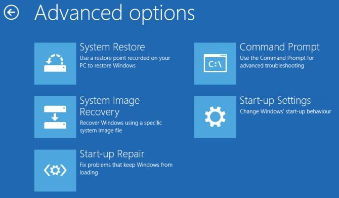 windows 10 advanced startup settings