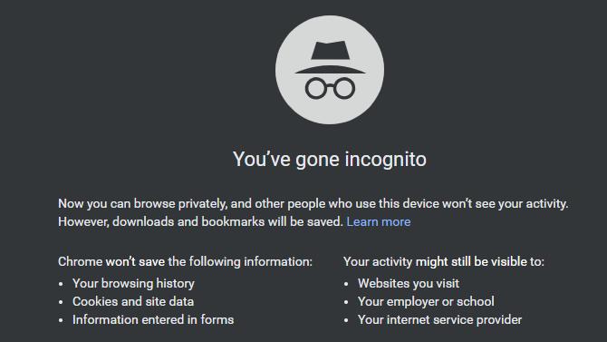 Chrome Go Incognito