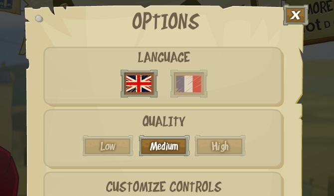Flash Game Change Quality