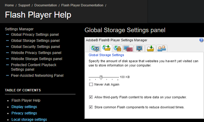 Flash Player Local Storage