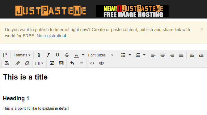 Just Paste Me Pastebin