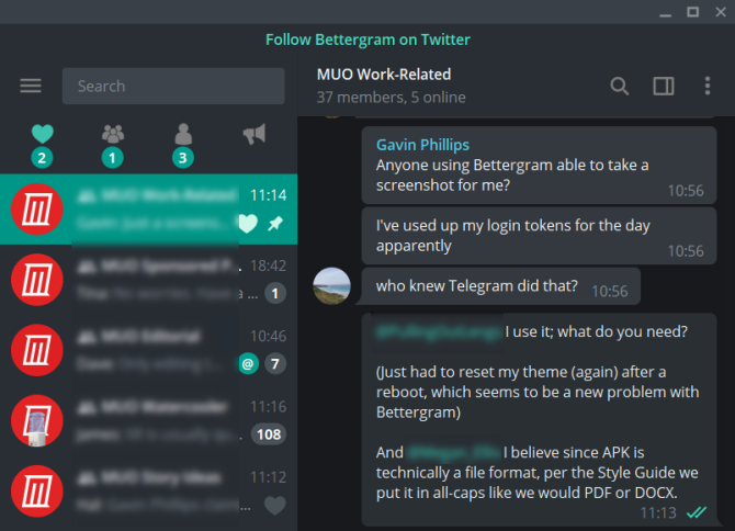 bettergram telegram desktop client alternative