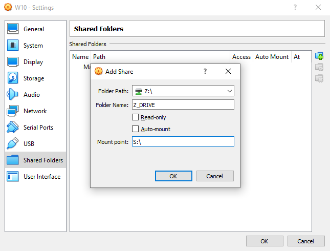 Share folders between host OS and guest virtual machines