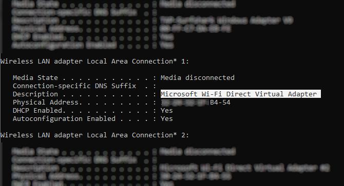Check for Wi-Fi Direct compatibility in Windows 10