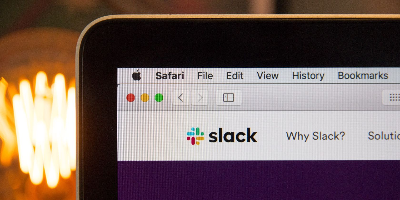 Screenshot of Slack in Safari