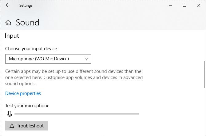 Windows 10'da ses girişini değiştirme