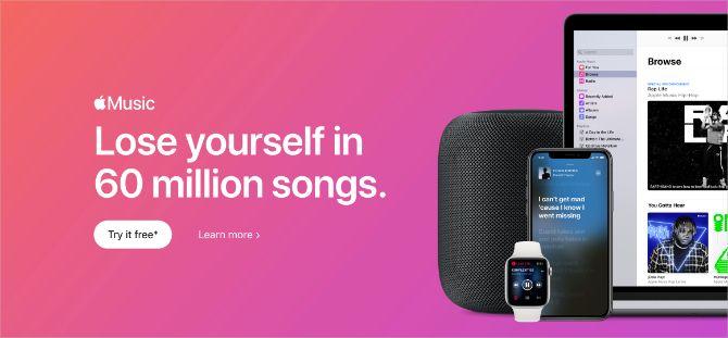 Apple Music 60 million songs banner image