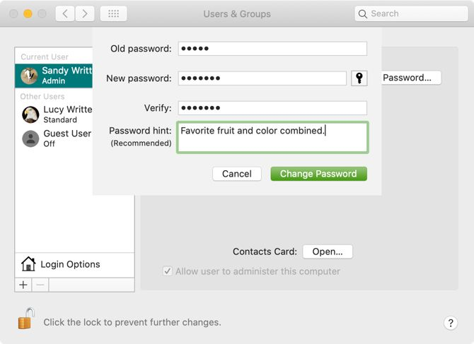 Mac Login Screen Password Hint
