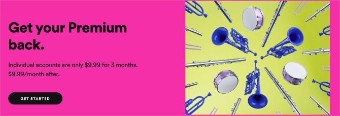 Spotify Premium three-month offer