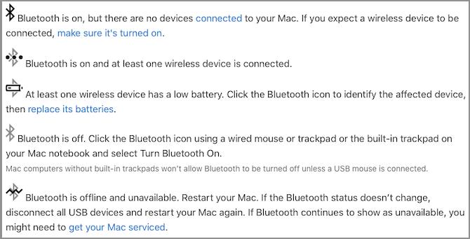 bluetooth icons mac