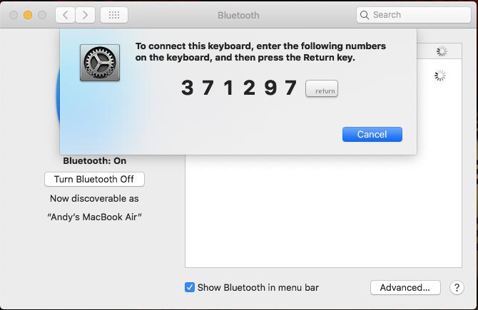 pair bluetooth keyboard mac