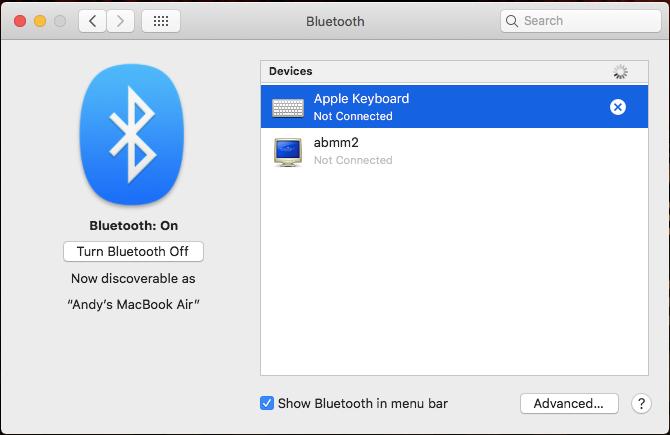 re-pair keyboard mac
