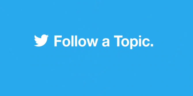 "Twitter Now Lets You Follow ""Topics"""